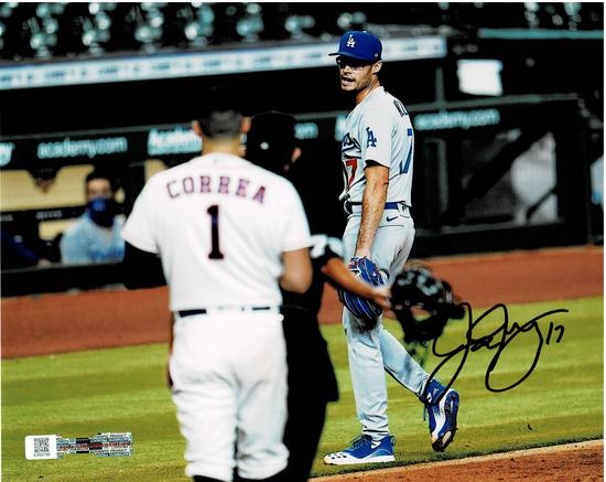Joe Kelly Los Angeles Dodgers Autographed 8x10 Stare down Correa Photo w/Full Time Auth coa
