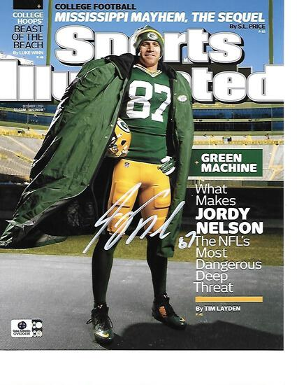 Jordy Nelson Green Bay Packers Autographed 8x10 SI Cover Photo w/ GA coa