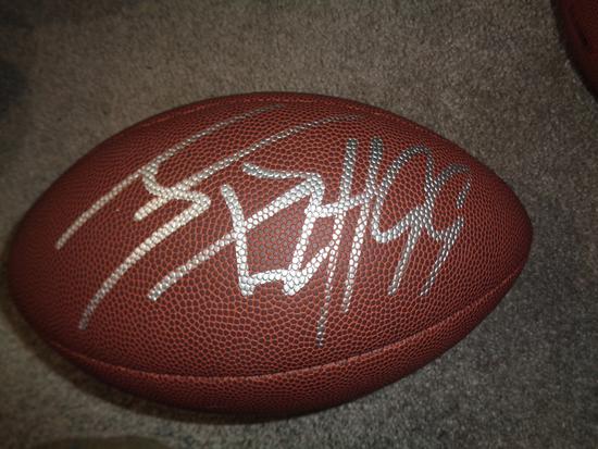 J.J. Watt Houston Texans Autographed Wilson Football w/GA coa