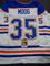 Andy Moog Edmonton Oilers Autographed Custom Road White Hockey Style Jersey w/JSA W coa
