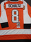 Dave Schultz Philadelphia Flyers Autographed Custom Orange Hockey Jersey w/JSA W coa