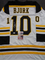 Anders Bjork Boston Bruins Autographed Custom Road White Hockey Style Jersey w/JSA W coa