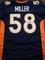 Von Miller Denver Broncos Autographed Custom Blue Football Style Jersey w/GA coa