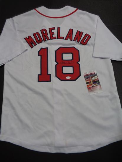 Mitch Moreland Boston Red Sox Autographed Custom White Baseball Style Jersey w/JSA W coa