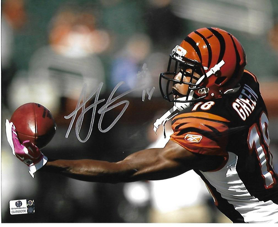 A.J. Green Cincinnati Bengals Autographed 8x10 One Handed Photo w/GA