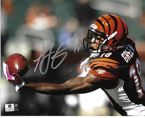 A.J. Green Cincinnati Bengals Autographed 8x10 One Handed Photo w/GA