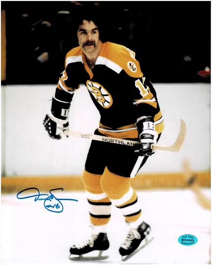 Derek Sanderson Boston Bruins Autographed 8x10 Photo w/Full Time coa