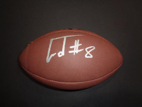 Lamar Jackson Baltimore Ravens Autographed Wilson Football w/GA coa