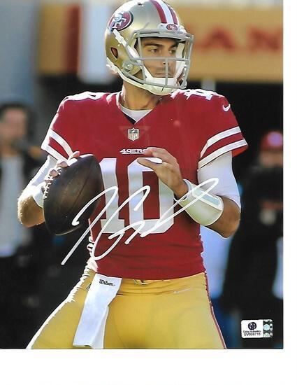 Jimmy Garoppolo San Francisco 49ers Autographed 8x10 Home Red Photo w/GA coa