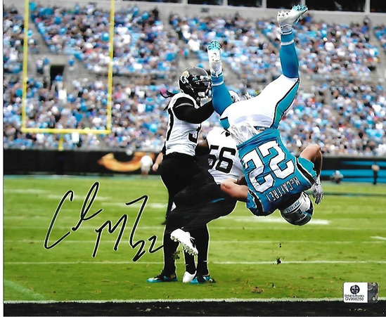 Christian McCaffery Carolina Panthers Autographed 8x10 Flip Photo w/GA coa