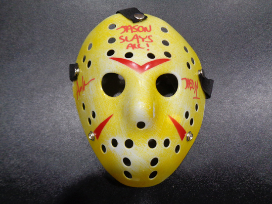 Ari Lehman JASON Friday the 13th Autographed & Inscribed  White Hockey Mask w/JSA W coa