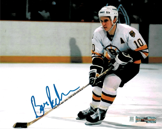 Barry Pederson Boston Bruins Autographed 8x10 Photo w/Full Time coa