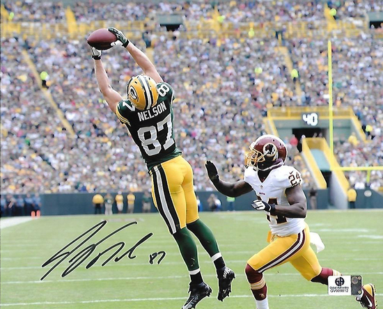 Jordy Nelson Green Bay Packers Autographed 8x10 Stretch Photo w/ GA coa
