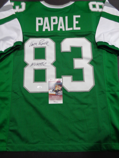 Vince Papale Philadelphia Eagles Autographed 8x10 photo w/JSA WITNESSED COA