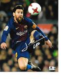 Lionel Messi F.C. Barcelona Autographed 8x10 Header Photo w/GA coa - RB4