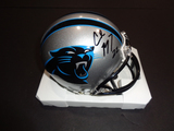 Christian McCaffery Carolina Panthers Autographed Riddell Mini Helmet w/GA coa