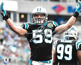 Luke Kuechly Carolina Panthers Autographed 8x10 Arms Up Photo w/ GA coa