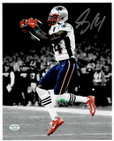 Mohamed Sanu Sr. New England Patriots Autographed 8x10 Spotlite Photo w/Full Time coa