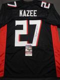 Damontae Kazee Atlanta Falcons Autographed Custom Black Football Style Jersey w/JSA W coa