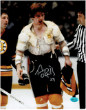 Terry O'Reilly Boston Bruins Autographed 8x10 Bloody Photo w/Full Time coa