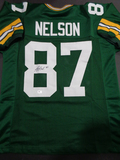 Jordy Nelson Green Bay Packers Autographed Custom Green Football Style Jersey w/ GA coa