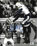 Keenan Allen Los Angeles Chargers Autographed 8x10 B & W Jump Photo w/ GA coa