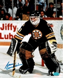 Reggie Lemelin Boston Bruins Autographed 8x10 Photo w/Full Time coa