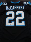 Christian McCaffery Carolina Panthers Autographed Custom Blur Football Style Jersey w/GA coa