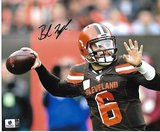 Baker Mayfield Cleveland Browns Autographed 8x10 Brown Jersey Photo w/GA coa