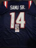 Mohamed Sanu Sr. New England Patriots Autographed Custom 2020 Navy Style Jersey w/JSA W coa
