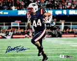 Dalton Keene New England Patriots Autographed 8x10 Blue Photo w/Full Time coa