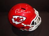 Patrick Mahomes Kansas City Chiefs Autographed Riddell Replica Full Size Helmet w/GA coa