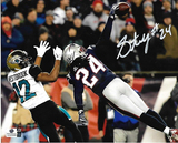 Stephon Gilmore New England Patriots Autographed 8x10 vs Jaguars Photo w/GA coa