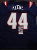 Dalton Keene New England Patriots Autographed Custom Navy Football Style Jersey w/JSA W coa
