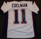 Julian Edelman New England Patriots Autographed Custom White Football Style Jersey w/GA coa