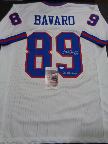 Mark Bavaro New York Giants Autographed & Inscribed Custom Jersey JSA W coa