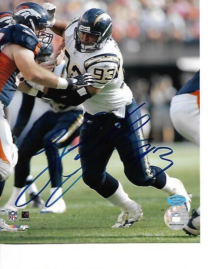 Luis Castillo San Diego Chargers Autographed 8x10 Photo Mancave coa