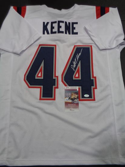 Dalton Keene New England Patriots Autographed Custom Football Jersey JSA W coa
