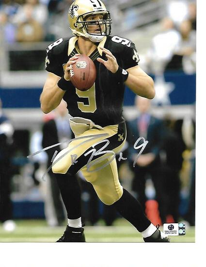 Drew Brees New Orleans Saints Autographed 8x10 Photo GA coa