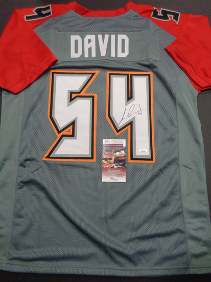 Lavonte David Tampa Bay Buccaneers Autographed Custom Football Jersey GA coa