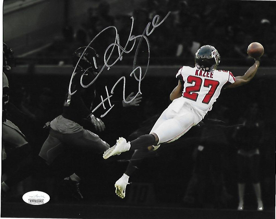 Damontae Kazee Atlanta Falcons Autographed 8x10 photo JSA W coa