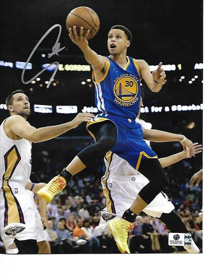 Stephen Curry Golden State Warriors Autographed 8x10 Photo GA coa
