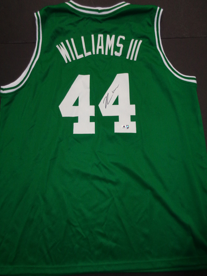 Robert Williams III Boston Celtics Custom Basketball Style Jersey GA coa