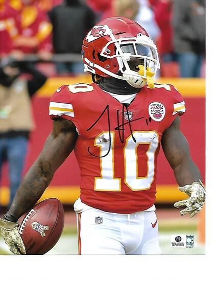 Tyreek Hill Kansas City Chiefs Autographed 8x10 Photo GA coa