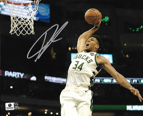 Giannis Antetokounmpo Milwaukee Bucks Autographed 8x10 Photo GA coa