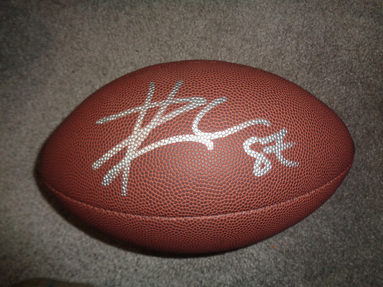 Travis Kelce Kansas City Chiefs Autographed Wilson Football w/GA coa