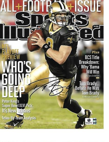 Drew Brees New Orleans Saints Autographed 8x10 Photo GA coa
