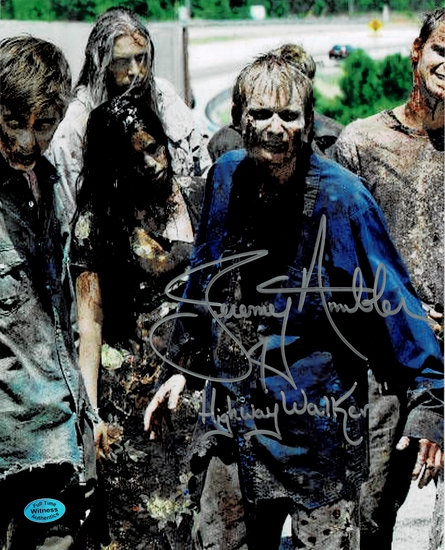 Jeremy Ambler The Walking Dead Autographed & Inscribed 8x10 Photo Full Time coa