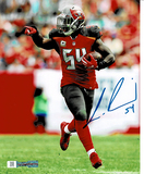 Lavonte David Tampa Bay Buccaneers Autographed 8x10 Photo Full Time coa