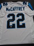 Christian McCaffery Carolina Panthers Autographed Custom Football Jersey GA coa